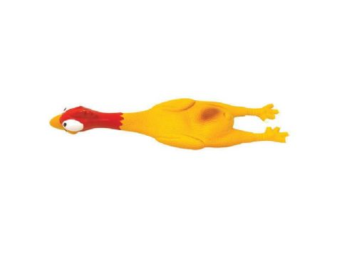 "RUBBER CHICKEN TURKEY LATEX SQUEAKY DOG TOY 17"" ROSEWOOD LATEX DOG TOY"